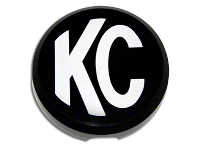 KC HiLiTES 6 in. Daylighter/Slimlite Plastic Cover - Black w/ White Logo