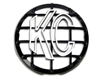 KC HiLiTES 6 in. Round Stone Guard for Daylighter & Slimlite - Black w/ White KC Logo