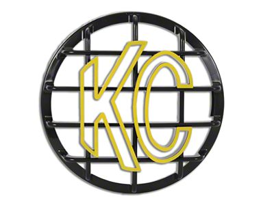 KC HiLiTES 6 in. Round Stone Guard for Daylighter & Slimlite - Black w/ Yellow KC Logo
