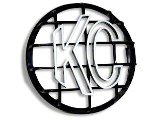 KC HiLiTES 8 in. Round Stone Guard for Rally 800 & Pro Sport - Black w/ White KC Logo