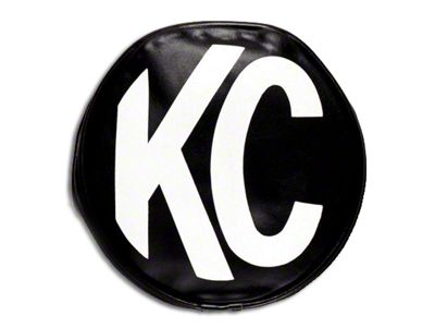 KC HiLiTES 8 in. Soft Vinyl Cover for Round Lights - Black