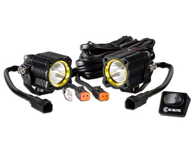 KC HiLiTES Flex Single LED Light - 10W Spot Beam - Pair