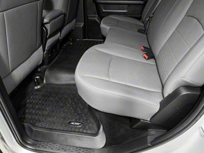 Rugged Ridge All-Terrain 2nd Row Floor Mat - Black (02-18 RAM 1500 Quad Cab, Crew Cab)