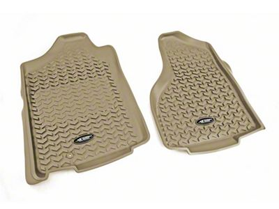 Rugged Ridge All-Terrain Front Floor Mats - Tan (02-18 RAM 1500)