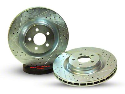 Baer Sport Drilled & Slotted 5-Lug Rotors - Rear Pair (02-10 RAM 1500, Excluding Mega Cab)
