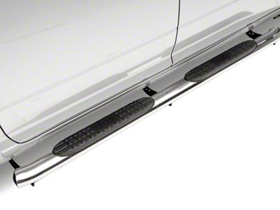 Westin Pro Traxx 4 in. Oval Side Step Bars - Stainless Steel (09-18 RAM 1500 Quad Cab, Crew Cab)