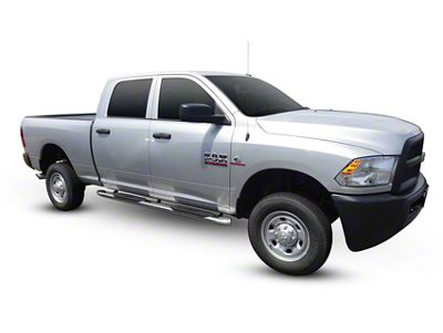 Westin Pro Traxx 5 in. Oval Side Step Bars - Stainless Steel (09-18 RAM 1500 Quad Cab, Crew Cab)