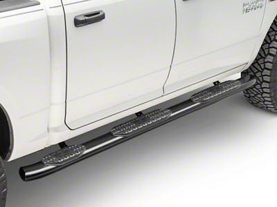 Westin Pro Traxx 5 in. WTW Oval Side Step Bars - Black (09-18 RAM 1500 Quad Cab w/ 6.4 ft. Box, Crew Cab w/ 5.7 ft. Box)
