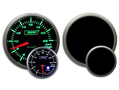 Prosport Dual Color EGT Premium Boost Gauge - Green/White (02-19 RAM 1500)