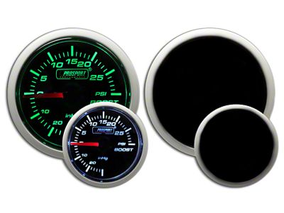 Prosport Dual Color 30 PSI Boost Gauge - Electrical - Green/White (02-19 RAM 1500)