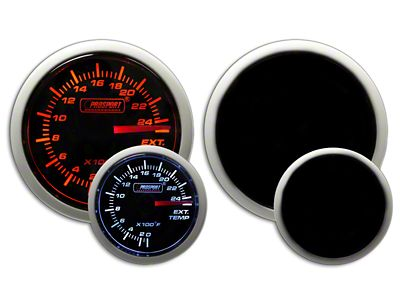 Prosport Dual Color Exhaust Gas Temperature Gauge - Amber/White (02-19 RAM 1500)