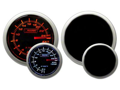 Prosport Dual Color Exhaust Gas Temperature Gauge - Electrical - Amber/White (02-19 RAM 1500)