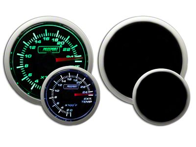 Prosport Dual Color Exhaust Gas Temperature Gauge - Green/White (02-19 RAM 1500)