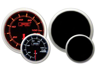 Prosport Dual Color Fuel Pressure Gauge - Electrical - Amber/White (02-19 RAM 1500)