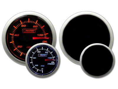 Prosport Dual Color Oil Pressure Gauge - Electrical Amber/White (02-19 RAM 1500)