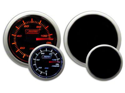 Prosport Dual Color Oil Pressure Gauge - Electrical - Amber/White (02-19 RAM 1500)