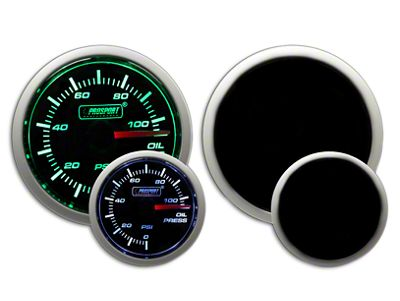 Prosport Dual Color Oil Pressure Gauge - Electrical - Green/White (02-19 RAM 1500)