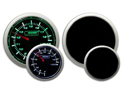 Prosport Dual Color Volt Gauge - Electrical - Green/White (02-19 RAM 1500)
