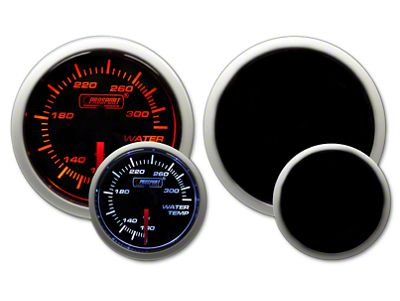 Prosport Dual Color Water Temperature Gauge - Electrical - Amber/White (02-19 RAM 1500)