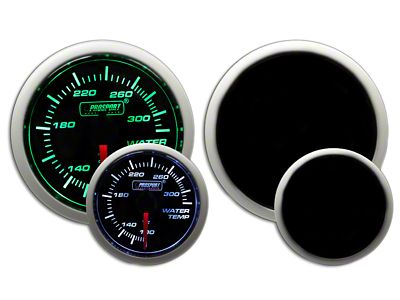 Prosport Dual Color Water Temperature Gauge - Electrical - Green/White (02-19 RAM 1500)