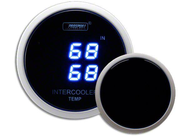 Prosport Dual Intercooler Digital Display Air Temperature Gauge - Blue (02-19 RAM 1500)