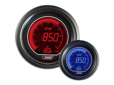 Prosport Dual Color Evo Exhaust Gas Temperature Gauge - Electrical - Red/Blue (02-19 RAM 1500)