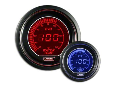 Prosport Dual Color Evo Celsius Water Temperature Gauge - Electrical - Red/Blue (02-19 RAM 1500)