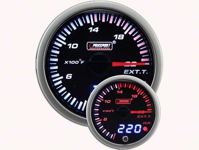 Prosport JDM Exhaust Gas Temperature Gauge - Electrical (02-19 RAM 1500)