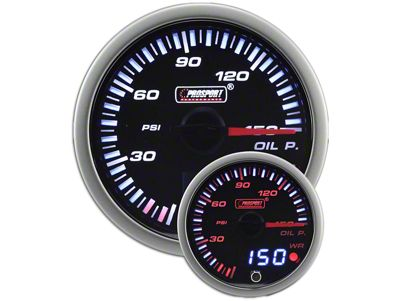 Prosport JDM Oil Pressure Gauge - Electrical (02-19 RAM 1500)