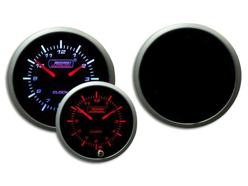 Prosport Premium Analog Clock - Amber/White (02-19 RAM 1500)