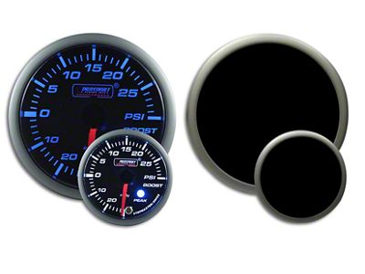 Prosport Dual Color Premium Boost Gauge - Electrical - Blue/White (02-19 RAM 1500)