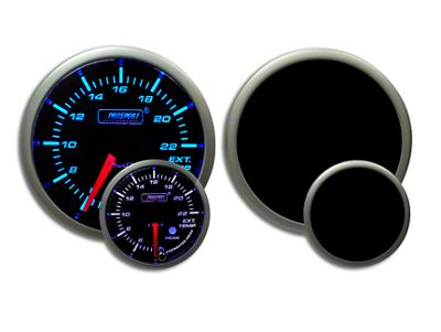 Prosport Dual Color Premium EGT Gauge - Blue/White (02-19 RAM 1500)