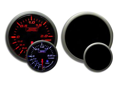 Prosport Dual Color Premium Metric Boost Gauge - Amber/White (02-19 RAM 1500)