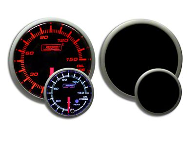 Prosport Dual Color Premium 0-150 PSI Oil Pressure 60mm Gauge - Amber/White (02-19 RAM 1500)