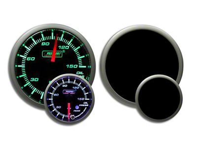 Prosport Dual Color Premium 0-150 PSI Oil Pressure Gauge - Green/White (02-19 RAM 1500)