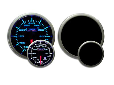Prosport Dual Color Premium Oil Temperature Gauge - Blue/White (02-19 RAM 1500)