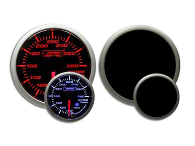 Prosport Dual Color Premium Water Temperature Gauge - Amber/White (02-19 RAM 1500)