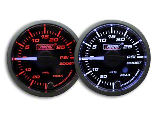 Prosport Dual Color Premium White Pointer Boost Gauge - Amber/White (02-19 RAM 1500)