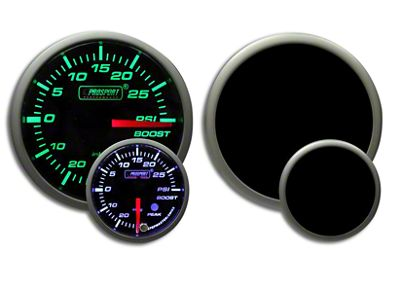 Prosport Dual Color Premium White Pointer Boost Gauge - Green/White (02-19 RAM 1500)