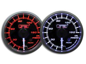Prosport Dual Color Premium White Pointer Oil Pressure Gauge - Amber/White (02-19 RAM 1500)