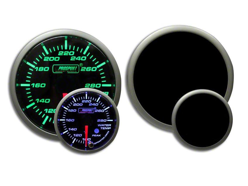 Prosport Premium Water Temperature Gauge - Green/White (02-19 RAM 1500)