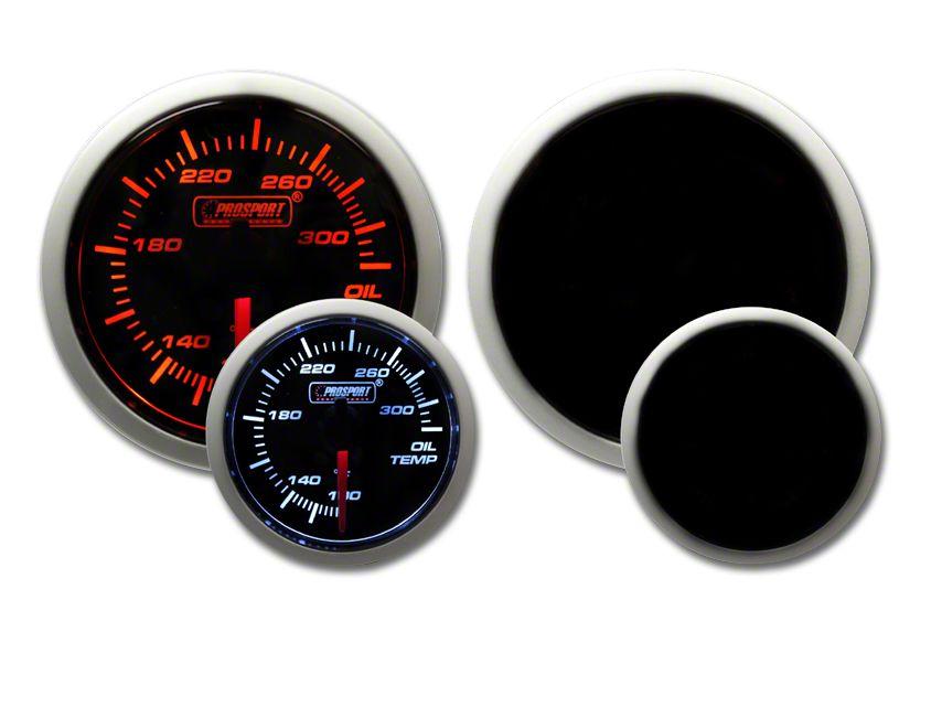 Prosport Tri-Color Halo Oil Temperature Gauge - Amber/White/Blue (02-19 RAM 1500)