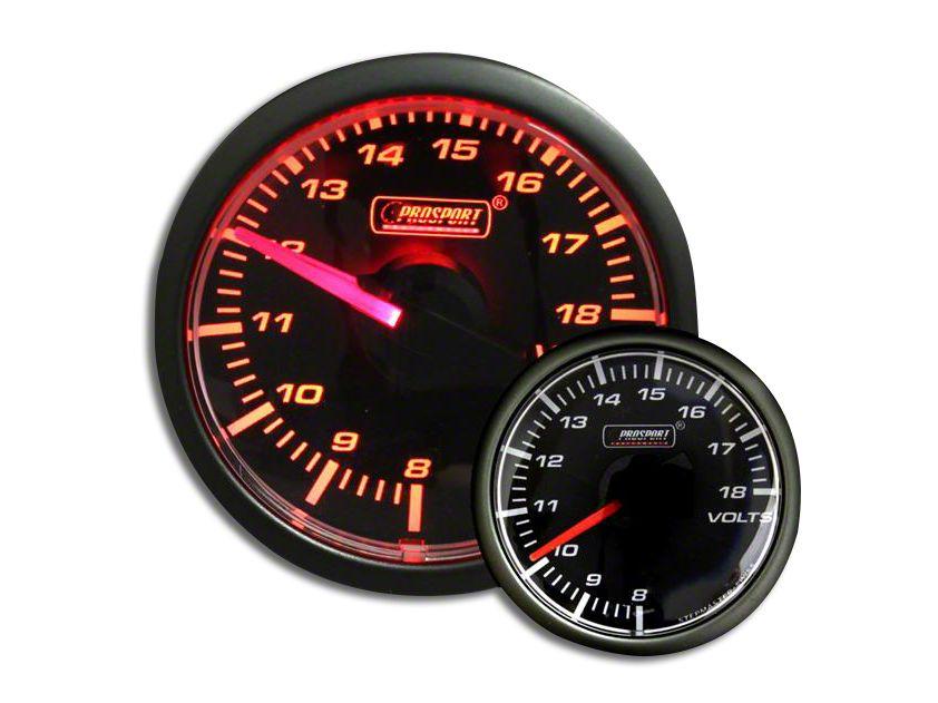 Prosport Voltmeter Gauge - Electrical - Amber (02-19 RAM 1500)