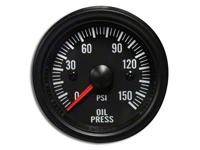 Prosport White LED Oil Pressure Gauge - Electrical (02-19 RAM 1500)