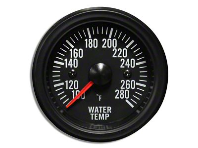 Prosport White LED Water Temperature Gauge - Electrical (02-19 RAM 1500)