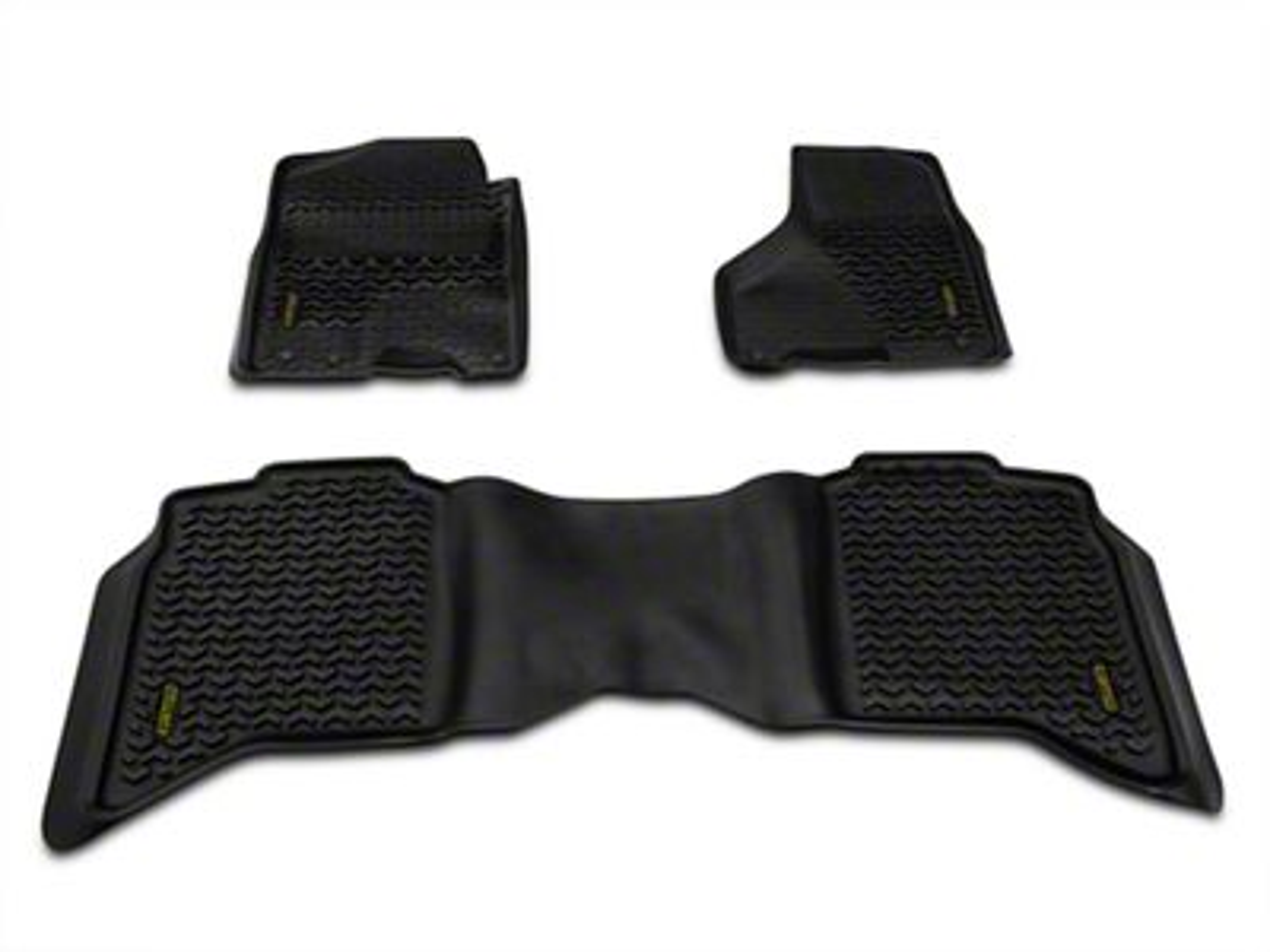 Barricade Front & Rear Floor Mats - Black (09-18 RAM 1500 Crew Cab)