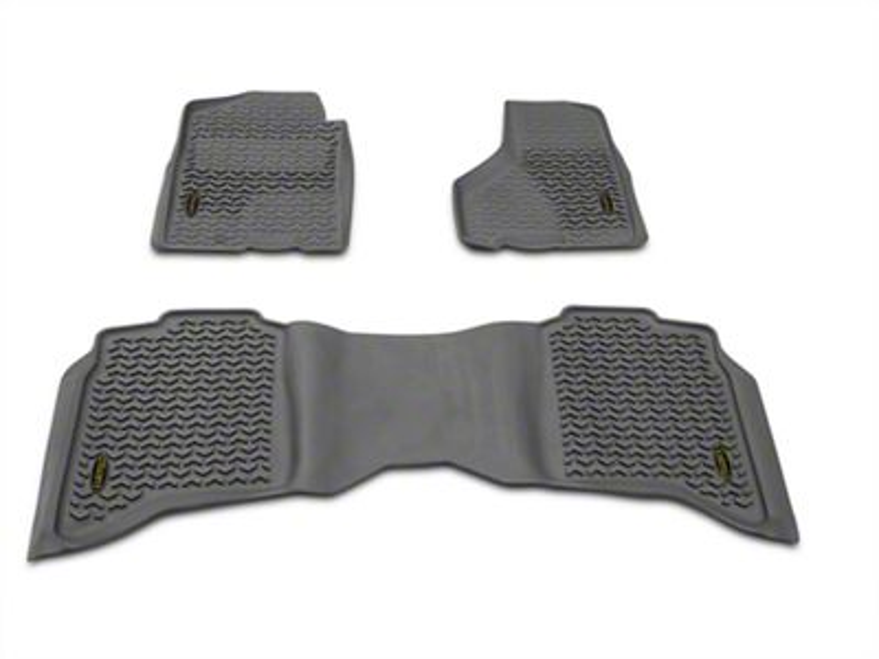 Barricade Front & Rear Floor Mats - Gray (09-18 RAM 1500 Crew Cab)