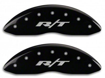 MGP Black Caliper Covers w/ R/T Logo - Front & Rear (13-18 RAM 1500)