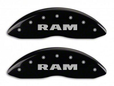 MGP Black Caliper Covers w/ RAM Logo - Front & Rear (11-18 RAM 1500)
