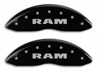 MGP Black Caliper Covers w/ RAMHEAD Logo - Front & Rear (06-10 RAM 1500, Excluding SRT-10)